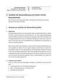 C. Ausfüllen der Steuererklärung und Verkehr ... - Steuern St. Gallen