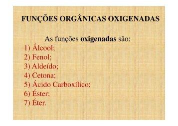 funções orgânicas oxigenadas - La Salle