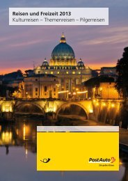 Broschüre Reisen und FreizeitLink wird in einem neuen ... - Postauto