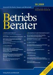 Zeitschrift für Recht, Steuern und Wirtschaft - Dr. Andreas M ...