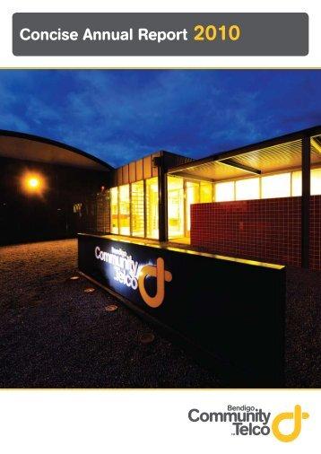 Concise Annual Report 2010 - Community Telco