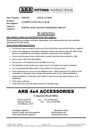 ARB 4x4 ACCESSORIES - CARiD.com