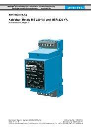 Relais MS 220 VA und MSR 220 VA - Ziehl industrie-elektronik ...