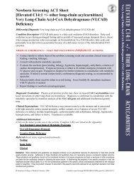 VLCAD - Very Long Chain acyl – CoA dehydrogenase ... - DHHR