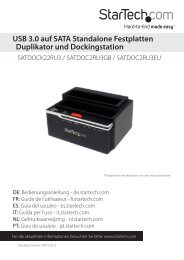 USB 3.0 auf SATA Standalone Festplatten ... - StarTech.com