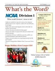 November 21, 2011 - University of the Incarnate Word