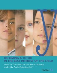 Becoming a tutor in the best interest of the child - Gouvernement du ...