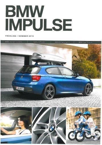 BMW IMPULSE Frühling / Sommer 2013 - Sepp Fässler AG