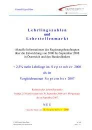 Lehrlingszahlen und Lehrstellenmarkt - Stand 30 ... - Egon Blum