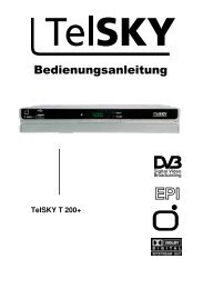 Bedienungsanleitung TelSKY T 200+ - Christo.Net