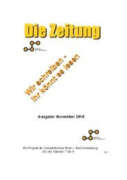 AG Zeitung Nr. 4 - November 2010