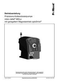 Präzisions-Kolbendosierpumpe mikro delta® MDLa ... - ProMinent