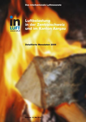 Luftbelastung in der Zentralschweiz und im Kanton Aargau - in-Luft