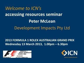 Peter McLean, Director - ICN