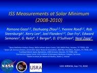 ISS Measurements at Solar Minimum (2008-2010) - Wrmiss.org