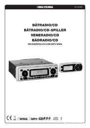 BÅTRADIO/CD BÅTRADIO/CD-SPILLER VENERADIO/CD ... - Biltema