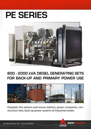 PE Series, technical specifications - AGCO Power