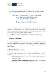 Concurso/Aviso - Projecto em Cooperação de Qualificação ... - QREN