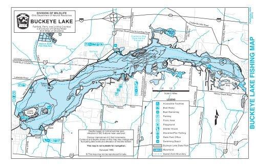buckeye lake ohio map Buckeye Lake Fishing Map Ohio Department Of Natural Resources buckeye lake ohio map