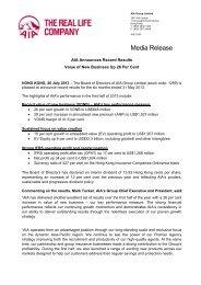 AIA Announces Record Results Jul 2013 - AIA.com