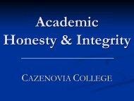 Academic Honesty.pdf - Cazenovia College