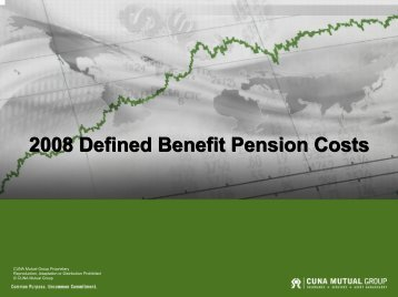 2008 Defined Benefit Pension Costs - CUNA Mutual Group