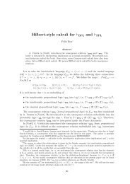 Hilbert-style calculi for ⊢BPL and ⊢FPL - Stanford University