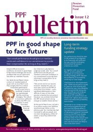 PPF Bulletin - Pension Protection Fund