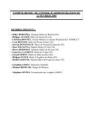 compte rendu du conseil d'administration du 22 fevrier 2005
