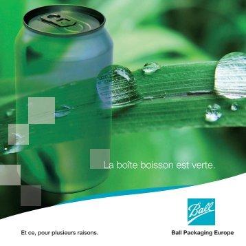 La boîte boisson est verte (PDF, 880.64KB) - Ball Europe