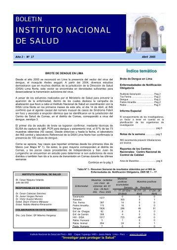 Informes Especiales - Instituto Nacional de Salud