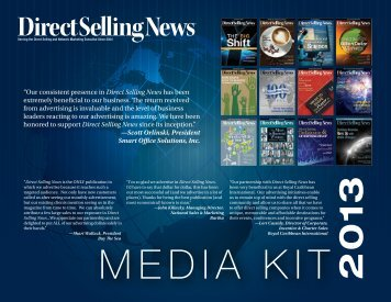 to download the media kit. - Direct Selling News