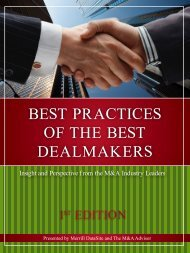 Best Practices of the Best DealMaKers