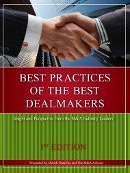 Best Practices of the Best DealMaKers