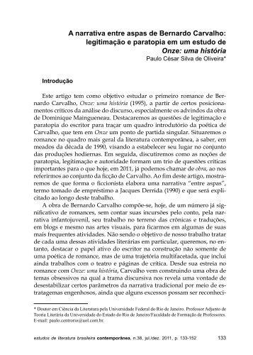 revista 38.indd - Grupo de Estudos em Literatura Brasileira ...