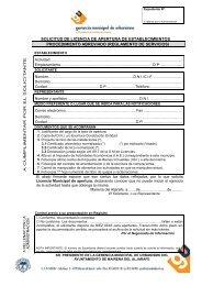 Solicitud Licencia PROCEDIMIENTO ABREVIADO - Ayuntamiento ...