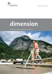 dimension 2/08 - Holcim Schweiz