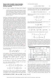 Scarce state transition turbo decoding based on re-encoding ... - IMS