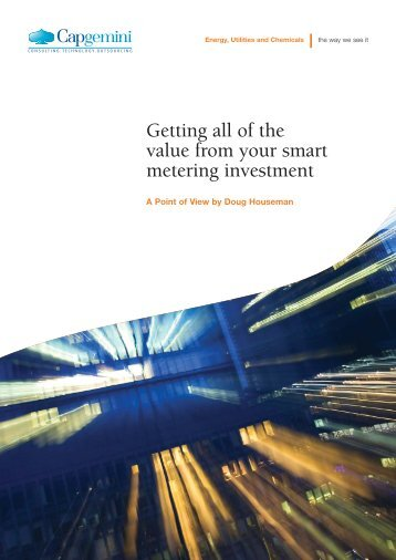 Getting all of the value from your smart metering ... - Smart Grids