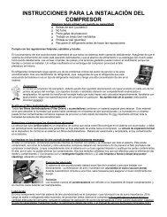 instrucciones para la instalación del compresor - Factory Air