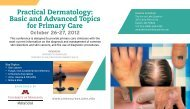 Practical Dermatology - University of Minnesota Continuing Medical ...