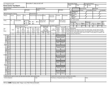 Rural Carrier Trip Report - NALC Branch 78