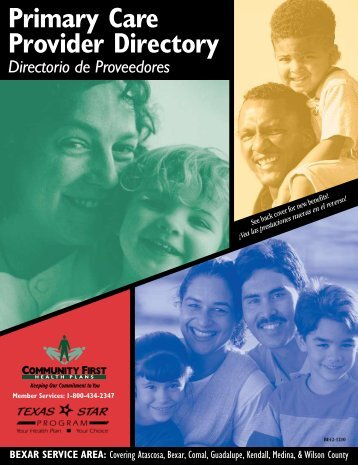 Primary Care Provider Directory - Community First Health Plans.