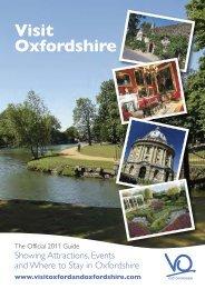Visit Oxfordshire 2011 Guide (pdf format, 4.3 MB)