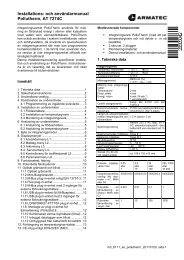 för Integreringsverk - Armatec AB