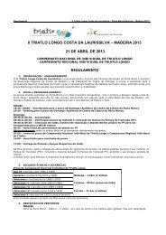 II TRIATLO LONGO COSTA DA LAURISSILVA – MADEIRA 2013 21 ...