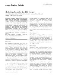 Research Paper: Hydration - Coca Cola