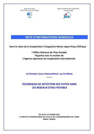 1 analyses bact riologiques office national de l 39 eau - Office national de l electricite et de l eau potable ...