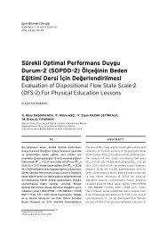 Sürekli Optimal Performans Duygu Durum-2 (SOPDD-2 ... - Arastirmax
