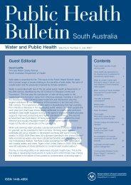 Public Health Bulletin Volume 4, Number 2, July 2007